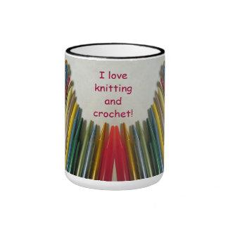 Amo el hacer punto y Crochet la taza