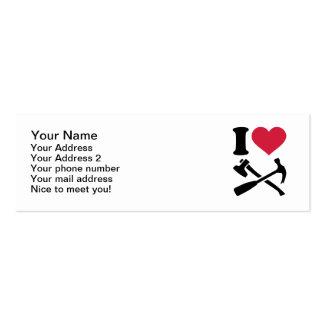 Amo el hacha del martillo de las herramientas tarjetas de visita mini