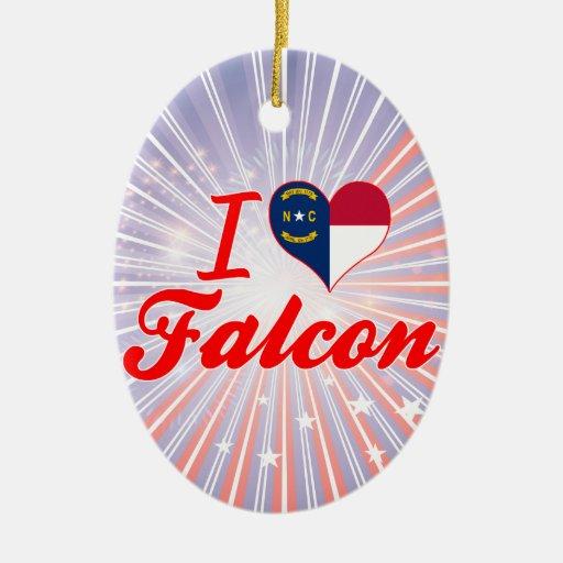 Amo el halcón, Carolina del Norte Adornos De Navidad