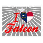 Amo el halcón, Carolina del Norte Postales