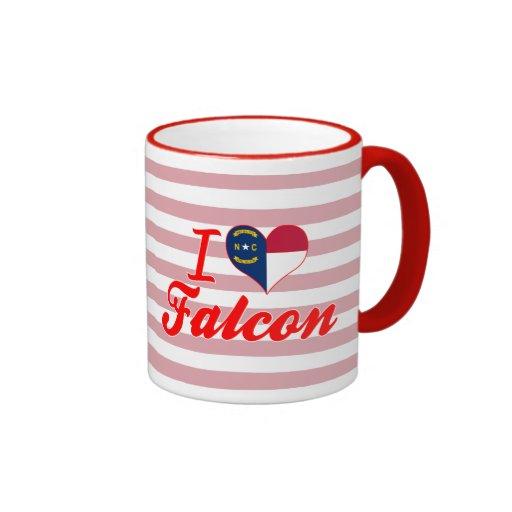 Amo el halcón, Carolina del Norte Taza A Dos Colores