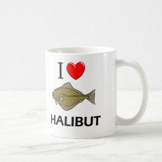Amo el halibut taza básica blanca