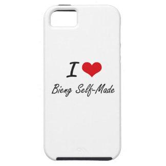 Amo el hecho a sí mismo diseño artístico de Bieng iPhone 5 Carcasa
