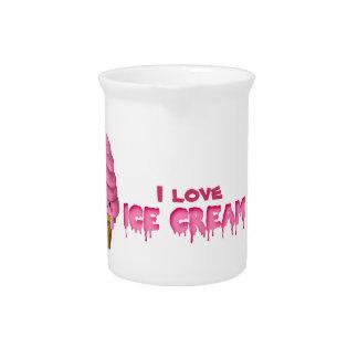 Amo el helado jarrones