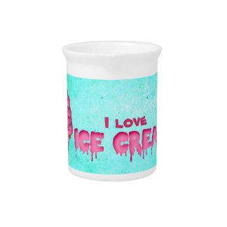 Amo el helado jarra