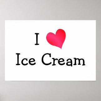 Amo el helado impresiones