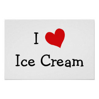 Amo el helado póster