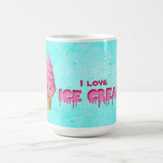 Amo el helado taza de café