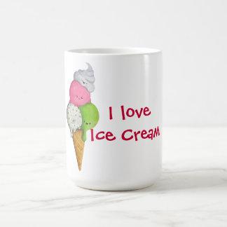 Amo el helado tazas de café