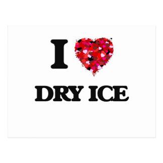 Amo el hielo seco postal