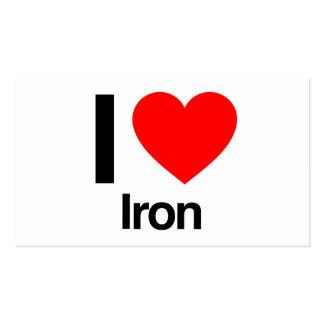 amo el hierro tarjetas de visita