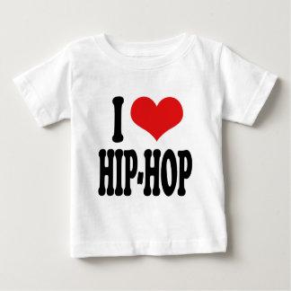 Amo el hip-hop playera de bebé
