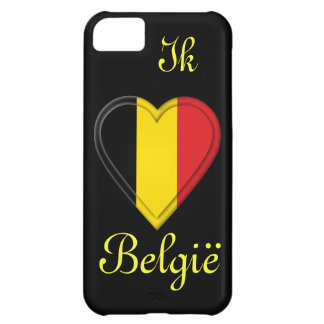 Amo el hou van België de Bélgica - de Ik - en Carcasa Para iPhone 5C