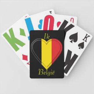 Amo el hou van België de Bélgica - de Ik - en hola Baraja Cartas De Poker