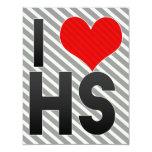 Amo el HS Invitación 10,8 X 13,9 Cm