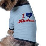 Amo el Hudson, Nueva York Camisa De Perro