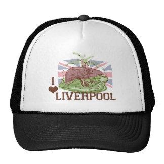 Amo el humor de Liverpool Gorros Bordados