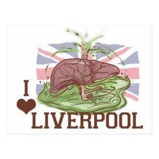 Amo el humor de Liverpool Tarjetas Postales