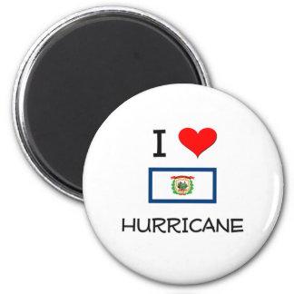 Amo el huracán Virginia Occidental Imán Redondo 5 Cm