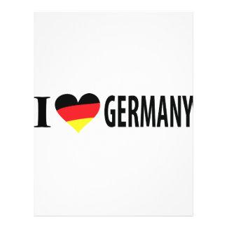 Amo el icono de Alemania Flyer A Todo Color