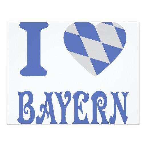 """Amo el icono de Baviera Invitación 4.25"""" X 5.5"""""""