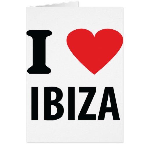 Amo el icono de Ibiza Tarjeta De Felicitación