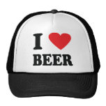 Amo el icono de la cerveza gorra