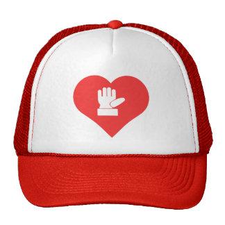Amo el icono de los cortes del dedo gorras de camionero