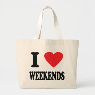 Amo el icono de los fines de semana bolsa