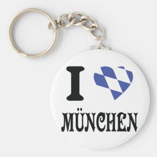 Amo el icono de München Llaveros