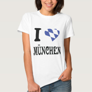 Amo el icono de München Playera