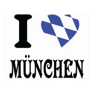 Amo el icono de München Postales