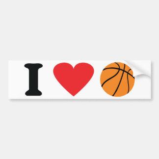 Amo el icono del baloncesto pegatina para auto
