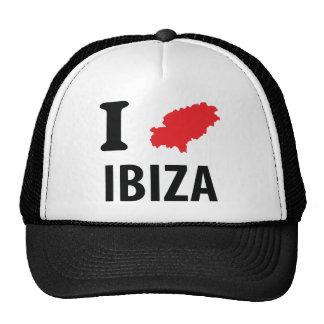 Amo el icono del contorno de Ibiza Gorros Bordados