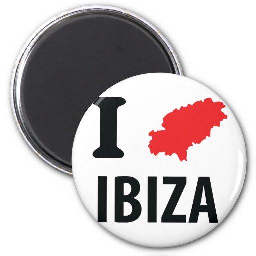 Amo el icono del contorno de Ibiza Imán Para Frigorifico