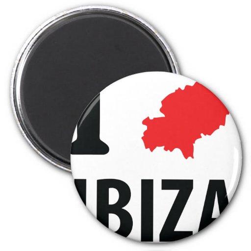 Amo el icono del contorno de Ibiza Iman