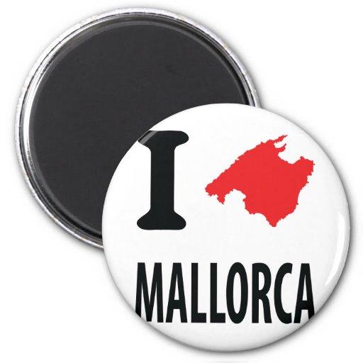 Amo el icono del contorno de Mallorca Imán De Nevera