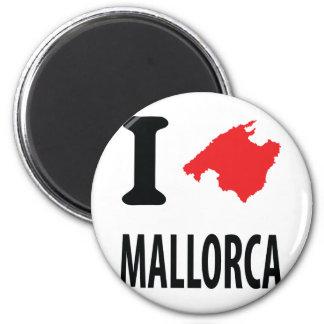 Amo el icono del contorno de Mallorca Imán Redondo 5 Cm