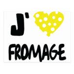 Amo el icono del fromage tarjetas postales