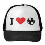 Amo el icono del fútbol gorras de camionero
