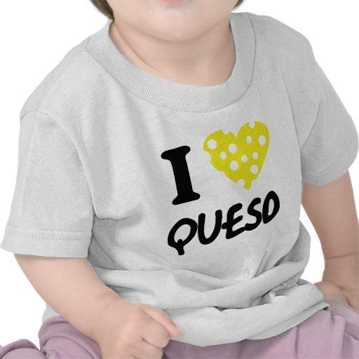 Amo el icono del queso camisetas