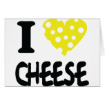 Amo el icono del queso felicitaciones