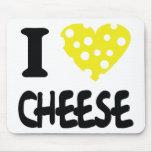 Amo el icono del queso tapete de ratón