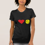 Amo el icono del tenis camiseta