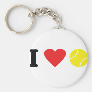 Amo el icono del tenis llaveros