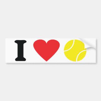 Amo el icono del tenis pegatina para auto