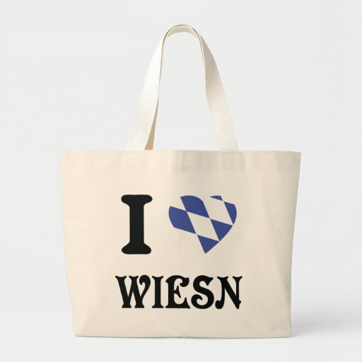 Amo el icono del wiesn bolsa lienzo