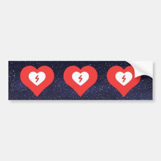 Amo el icono fresco de las enfermedades cardíacas pegatina para auto