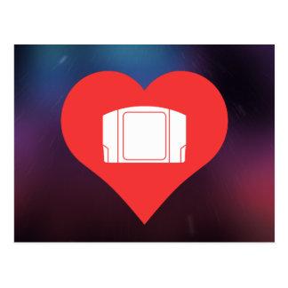 Amo el icono fresco de los controles del tarjeta postal