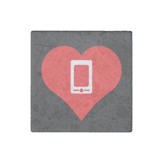 Amo el icono fresco de los smartphones imán de piedra
